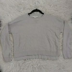gray/brown cropped sweater